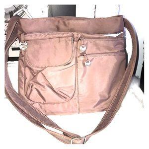 Travelon travel crossbody  taupe bag